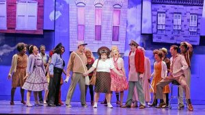 "The cast of Drury Lane Theatre's production of 'Hairspray' performing ""Good Morning, Baltimore"", The production was nominated for 8 Joseph Jefferson Awards, and won best choreography."